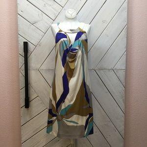 Trina Turk Keyhole Silk Shift Dress